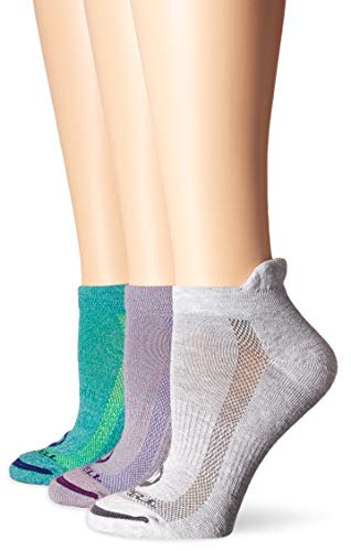 Merrell Women's Cushioned Low Cut Tab Socks, 3 Pack, Grape Marl, Shoe Size: 4-9.5 (Best Low Cut Hiking Shoes)