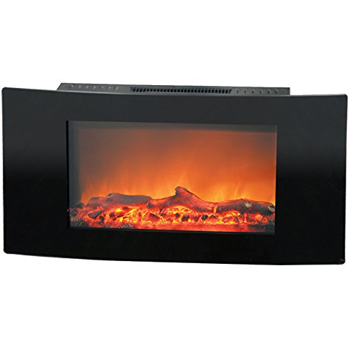 Cambridge Callisto Wall-Mount Electric Fireplace Black CAM35WMEF-2BLK