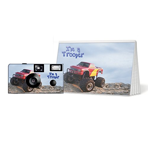 Monster Truck – I'm a Trooper – Camera and Photo Album Set. Be Brave, be Strong. (PK113)
