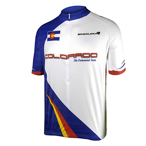 Endura CoolMax Printed Colorado Cycling Jersey, (Colorado Cycling Jersey)