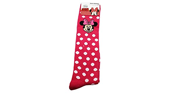 Amazon.com: Disneys Minnie Mouse Red/White Polka Dotted Long Socks (1 Pair, Size 6-8): Clothing