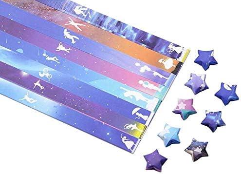 1300枚のカラフルな折り紙の星紙DIYのラッキースター紙片 #07