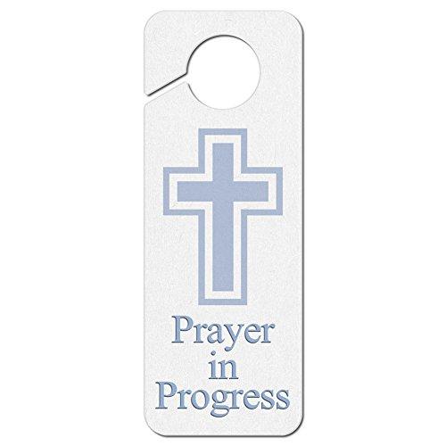 (Graphics and More Prayer in Progress Religious Cross Plastic Door Knob Hanger Sign)