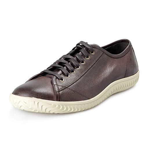 John Varvatos Star USA Men's Leather Hattan Low Top Sneakers Shoes Sz US 10.5 IT 44 Antique Brown