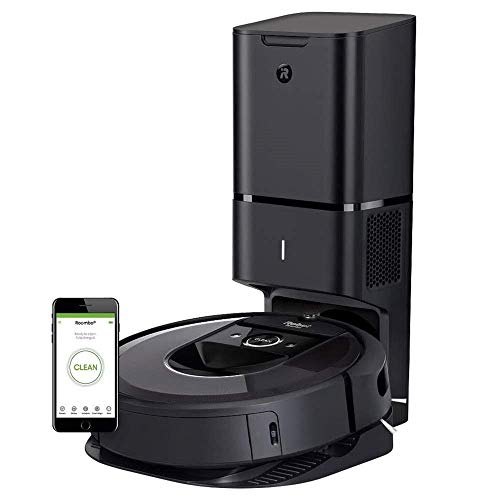iRobot Roomba i7+ (7550) Robot Vacuum Bundle with Automatic Dirt Disposal - Wi-Fi Connected + 4 Extra Corner Brushes + 4 Extra High Efficiency Filters + Set of Multi-Surface Rubber Brushes + More!