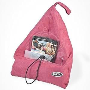 Bookseat - Atril para libro, diseño en forma de saco, color rosa