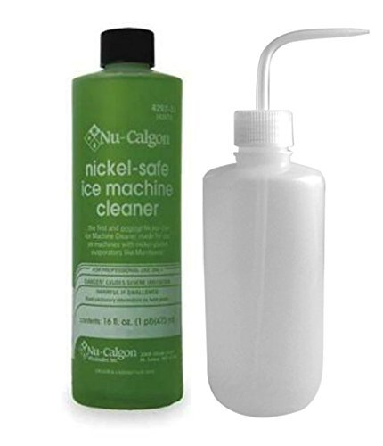 Nu-Calgon 428734 Ice Machine Cleaner 16 oz and Ice Machine Applicator Bottle - Bundle