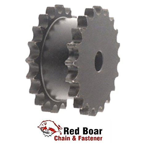 DS80A21H-PB Double Single Sprocket Plain Bore for 2 #80 roller chain by RED BOAR Chain
