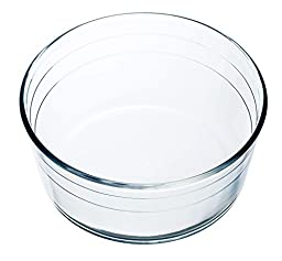 Arcuisine Borosilicate Glass Soufflé Dish 8.5 Inches (21 Centimeters)