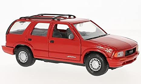 Amazon Com Gmc Jimmy Red 1994 Model Car Ready Made Motormax 1