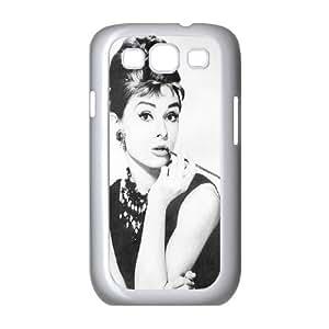 Audrey Hepburn Pattern Custom Case for Samsung Galaxy S3 I9300, Personalized Audrey Hepburn Pattern Case