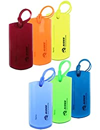 Luggage Tags for Suitcases/Colorful Flexible Travel Tags for Baggage Bags - 6 Pack