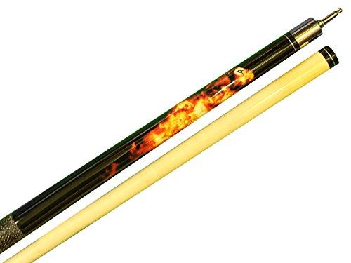 Aska 25-Ounce Heavy Hitter Jump Break Cue Stick JBC Fireball, 3pc Cue, Jump/Break Cue. 13mm Tip, Hard Rock Canadian Maple Shaft.