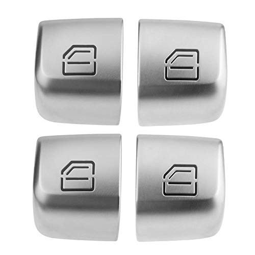 (Childplaymate 4pcs/Set Master Window Switch Repair Button Caps for Mercedes Benz C Class)