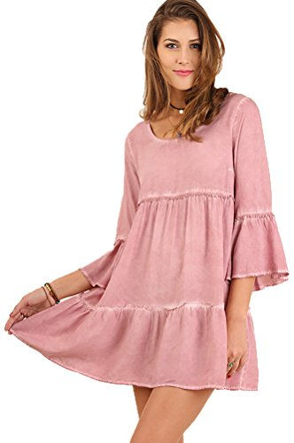 Buy bell sleeve babydoll dress - 2