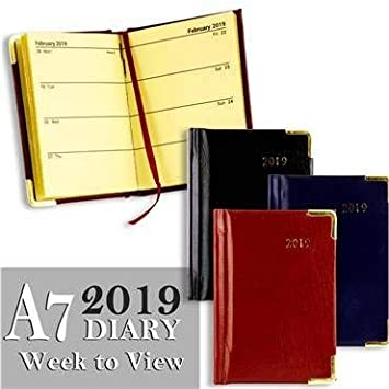 Premier 2019 - Agenda anual A7, planificador semanal: Amazon ...