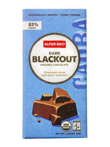 Alter Eco   Dark Blackout   85% Pure Dark Cocoa, Fair Trade, Organic, Non-GMO, Gluten Free Dark Chocolate Bar, 4 Bars