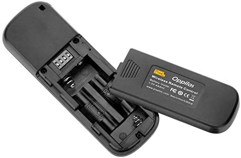 RW-221 // N3 Pixel Oppilas 2.4GHz Wireless Shutter Remote Control for Canon 5DS R//EOS 50D // 40D // 30D // 20D // 10D // 7D // 5D // 5D Mark II // 1D // 1Ds Mark III // 1Ds Mark IV Durable Black