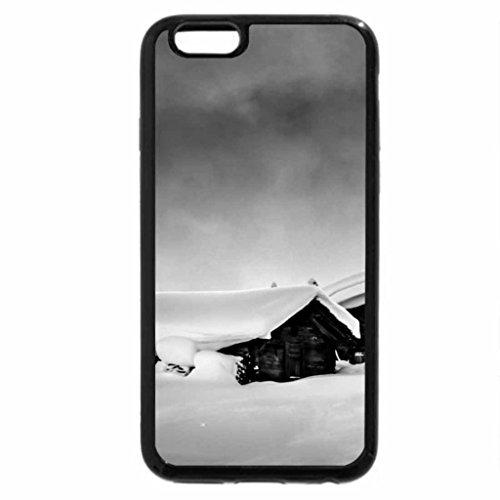 iPhone 6S Plus Case, iPhone 6 Plus Case (Black & White) - Winter
