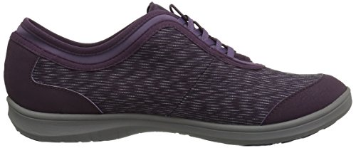 CLARKS Womens Dowling Pearl Walking Shoe,Aubergine Synthetic,6.5 M US