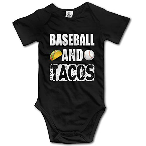 CDHL99 Baseball and Tacos Infant Baby Boys Girls Short Sleeve Rompers Costume Jumpsuit 0-2T Black