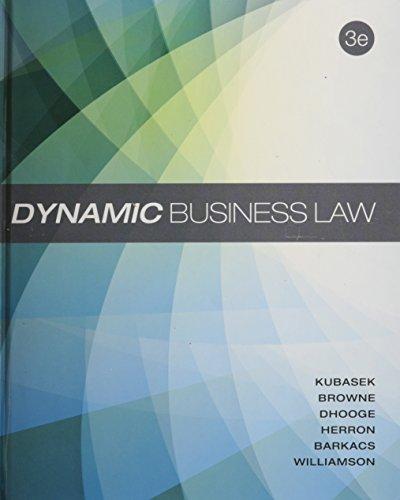 Pdf Law Dynamic Business Law