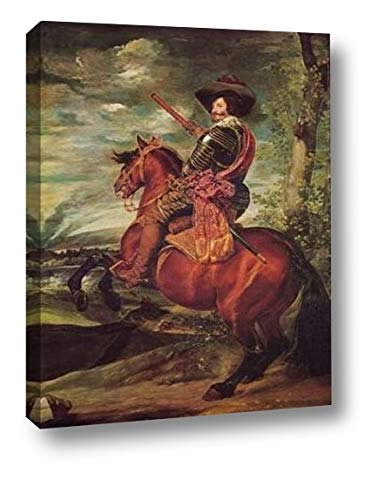 Equestrian Portrait of The Count Duke of Olivares by Diego Velazquez - 11