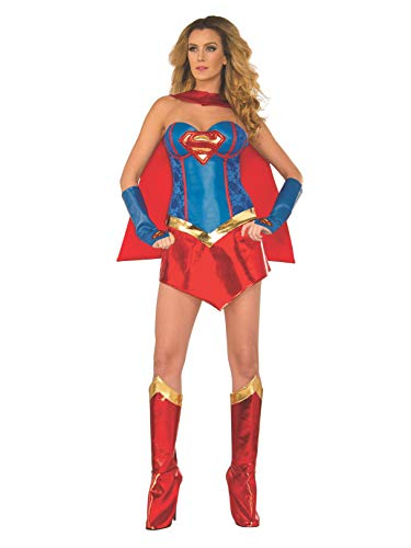 DC Comics Deluxe Supergirl Costume With Boot Covers,