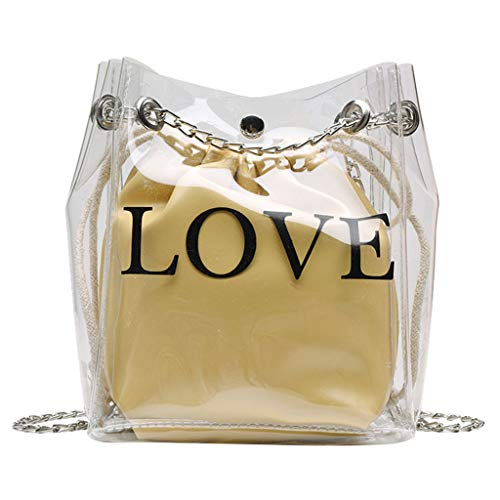 Lefthigh Female Transparent Bucket Bag, Small Jelly Wild Exquisite Bag Diagonal Package