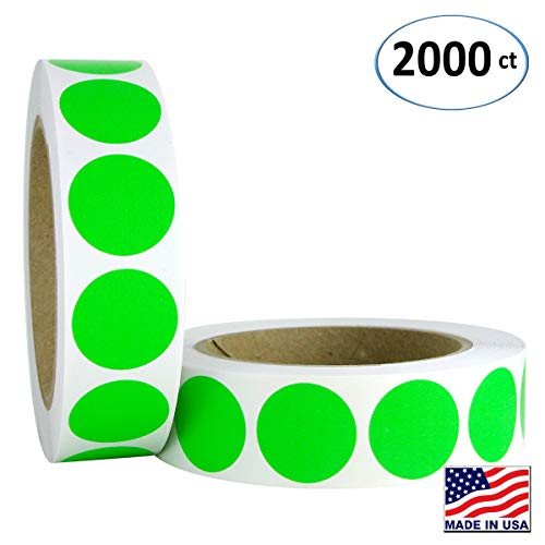 Green Inventory Circle Labels - 1