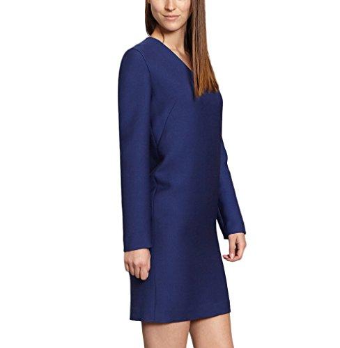 Cacharel Robe Double Crêpe 47791 Marine Femmes Bleu Automne / Collection Hiver Bleu Marine
