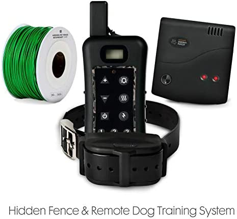 Sit Boo-Boo Electric Dog Fence Remote Training System – Advanced Train Containment System for Dogs w Rechargeable Submergible Collars