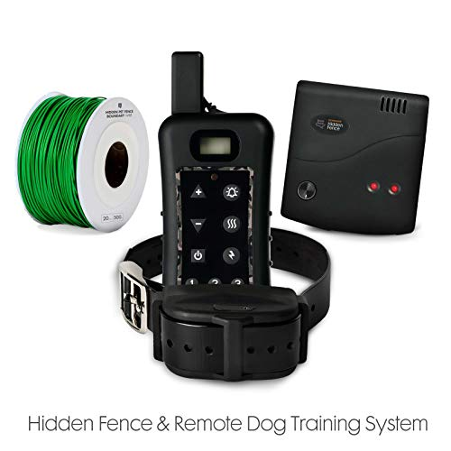 Electric Dog Fence Remote Training System – Advanced Train Containment System for Dogs w Rechargeable Submergible Collars