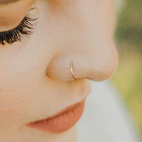 Real Nose Ring Hoop 6mm (1/4