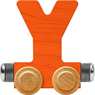 product image for Maple Landmark NameTrain Bright Letter Car Y - Made in USA (Orange)