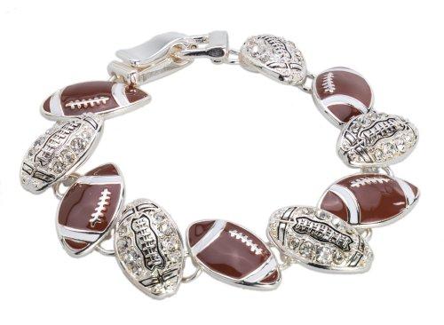 Football Bracelet with Rhinestone by Jewelry (Football Bracelet)
