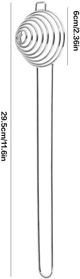 Lorsoul Espiral de Acero Inoxidable de Huevo Blanco del Separador de yema de Huevo removedor Divisor con Cocina de la Herramienta de Mango Largo