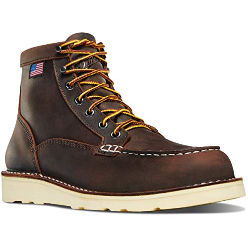"Danner Women's Bull Run Moc Toe 6"" Construction Boot, Brown, 8 M US"