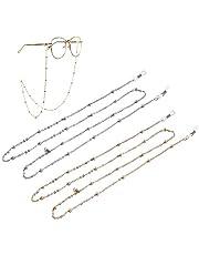 HEYDEFOAU 2pcs Women Eyeglass Chain and Cords, Reading Glass Lanyard for Women, Sunglass Strap Holder