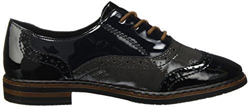 de 50603 Negro para Nightblue Fumo Vestir Rieker Mujer Zapatos Schwarz SRqqO