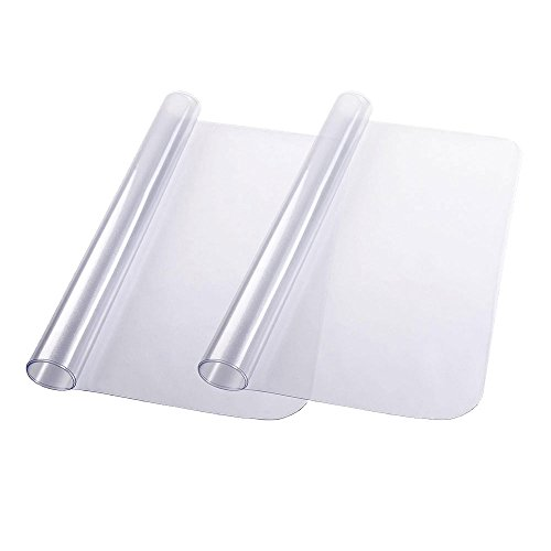YesHom 2pcs 48'' x 36'' Clear Rectangle PVC Floor Mat Protector 1.5mm Thickness for Hard Wood Floor Home Office Chair by YesHom