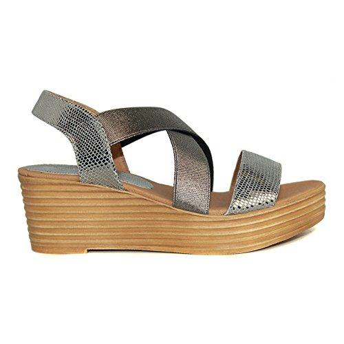 Sandalia de mujer - Maria Jaen modelo 4517N Gris