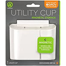 """U Brands Gruv Magnetic Utility Cup, White, 3.25 x 4.25"""""""