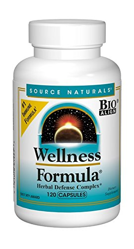 Source Naturals Wellness Formula Bio-Aligned Supplement Herbal Defense Complex Immune System Support, Immunity Booster & Antioxidants - 120 Capsules