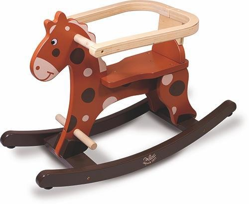 Vilac My First Brown Rocking Horse Plus Removable Hoop
