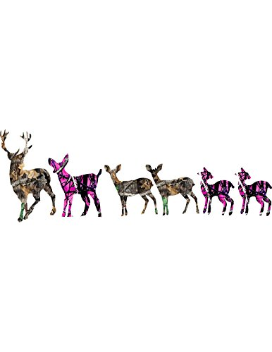 (Best Decals Deer Family Camo / Bucks /Does/Muddy)