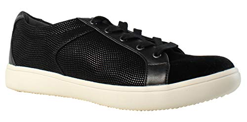 ell Lace to Toe Fashion Sneaker, Black, 7.5 M US ()