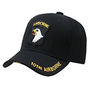 Rapid Dominance Genuine The Legend, Military Branch Caps (Adjustable , 101st. Airborne Black)