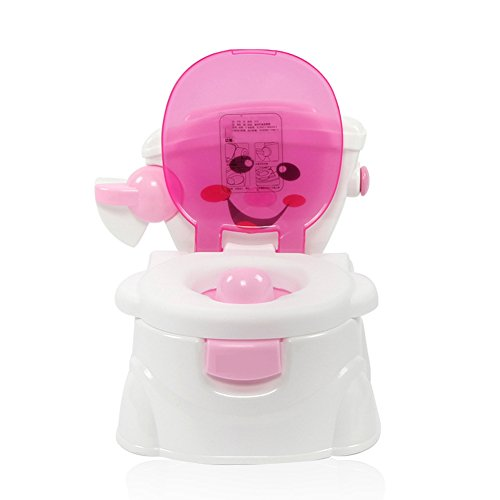 - ZXYWW Kids Simulation Potty Training Seat Chair Boys Girls Toilet Urinal Trainer Pee Removable Pot Step Stool Safe Back,Pink