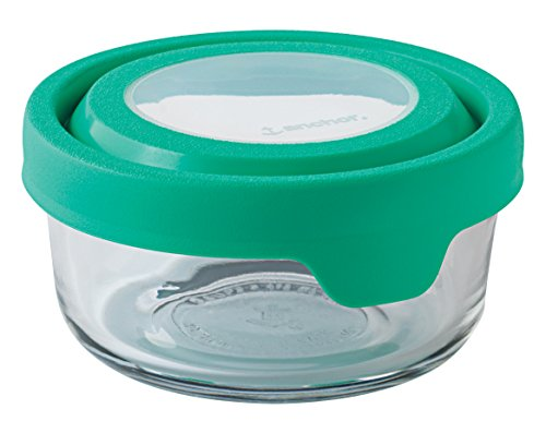 Anchor Hocking 2 Cup True Seal Round Food Storage Container, Light Green Mint